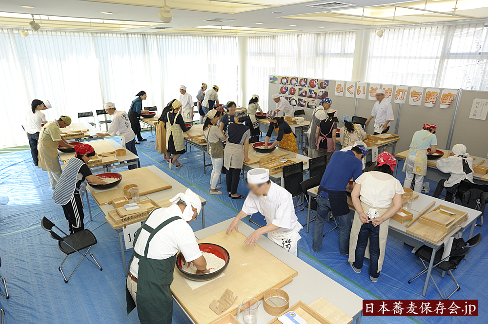 日本蕎麦伝統技能保持者、東京講習会